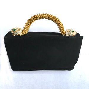 Kenneth Jay Lane RARE vintage jeweled panther bag